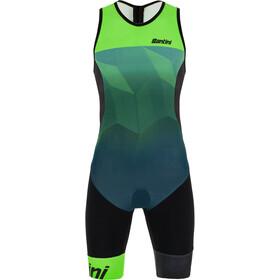 Santini Imago Kombinezon triathlonowy bez rękawów Mężczyźni, fluo green